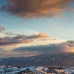 calanchi del piceno con neve
