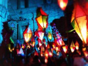 Li moccule di Castignano, processione dei lampioncini colorati