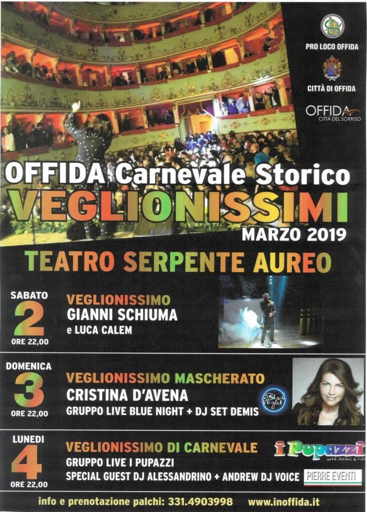 Offida locandina del Carnevale 2019