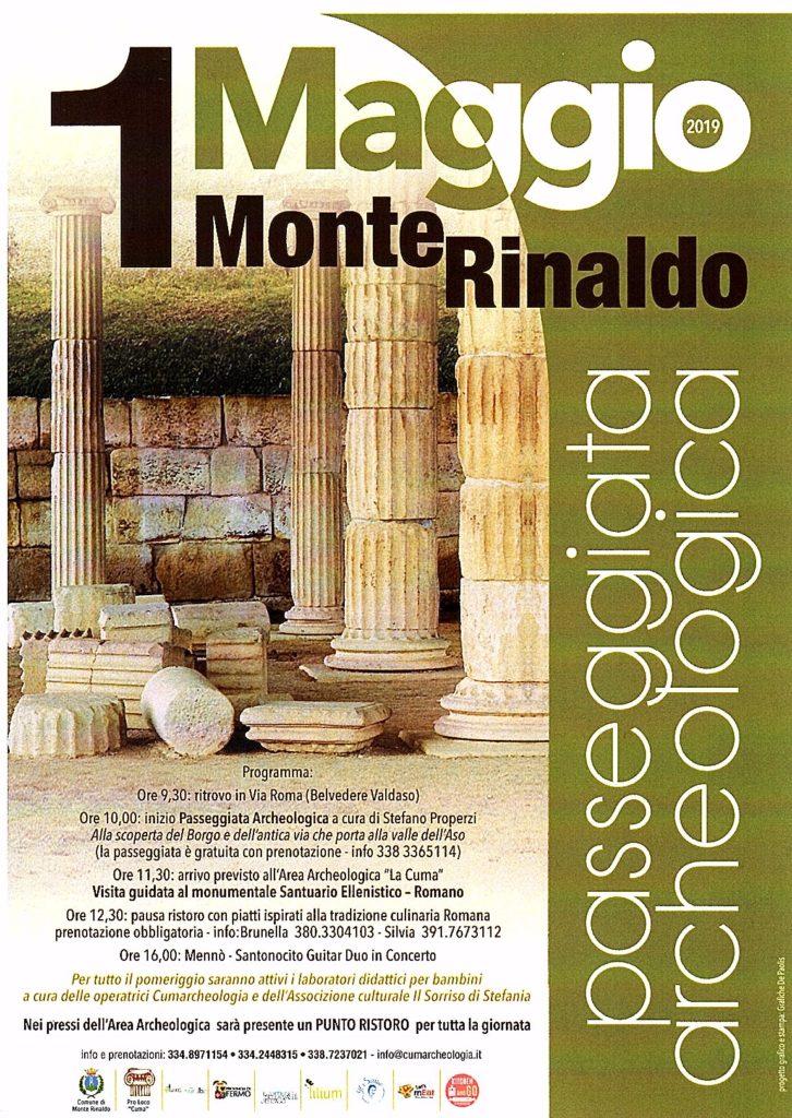 Locandina 1° Maggio 2019 Monte Rinaldo