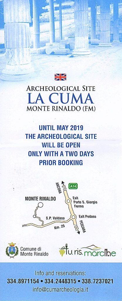news archeological site Monte Rinaldo