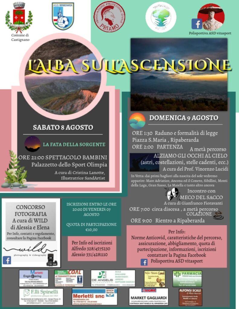 locandina evento Alba sul Monte Ascensione 9 agosto 2020